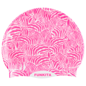 Шапочка FUNKITA-PAINTED PINK SILICONE SWIMMING CAP